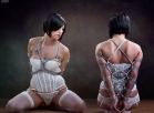 Domino Tied Up with Rope Lingerie Shibari Shoot