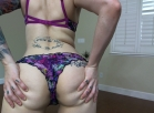 floral lingerie booty shaking video