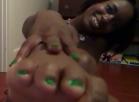 [Image: ebony shoe foot leg fetish NUDE]