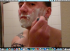 HD shower video with shaving and masturbation finish