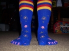 Space toe socks