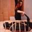 [Image: Extreme Bondage Fem on Fem Tickling Scene in Darlex strapped to body board]
