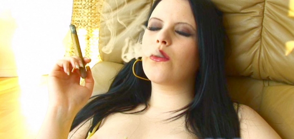 cam smoking cigar